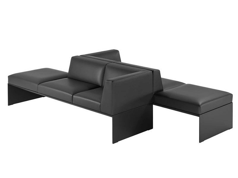 Modular leather bench BANC | Modular bench by Brunner
