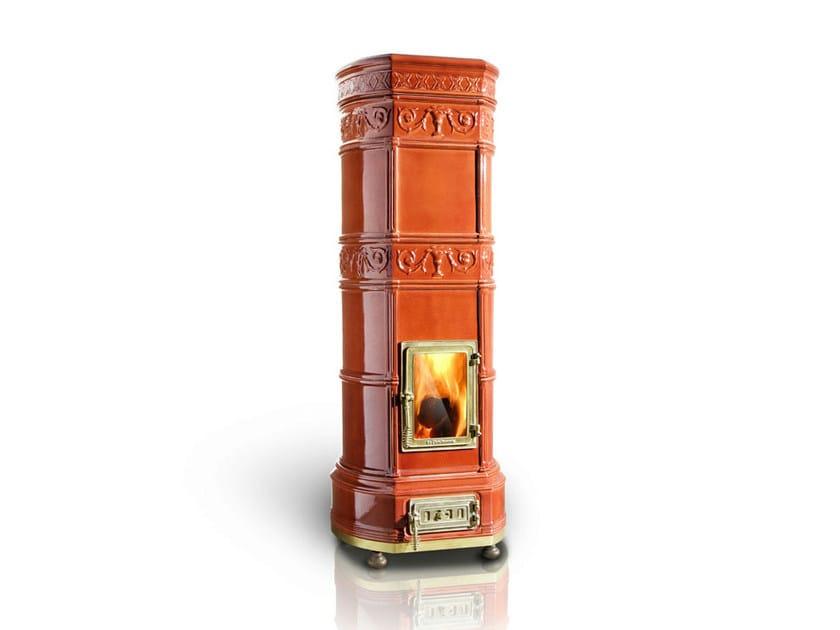 Wood-burning ceramic stove GRAND'OVALE | Stove - LA CASTELLAMONTE STUFE