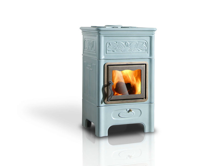 Wood-burning ceramic stove DECÒ by LA CASTELLAMONTE