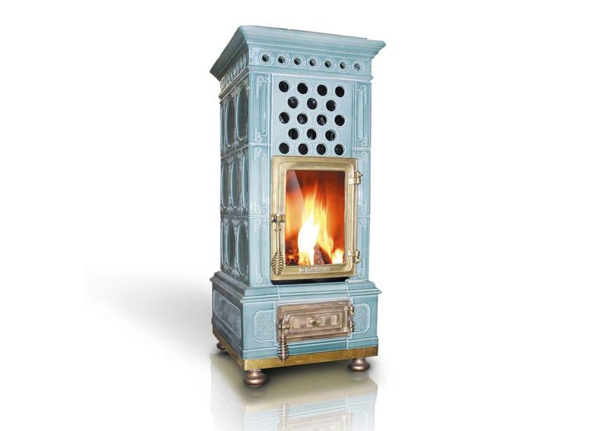 Pellet ceramic stove VOLUTAMENTE PELLET - LA CASTELLAMONTE STUFE