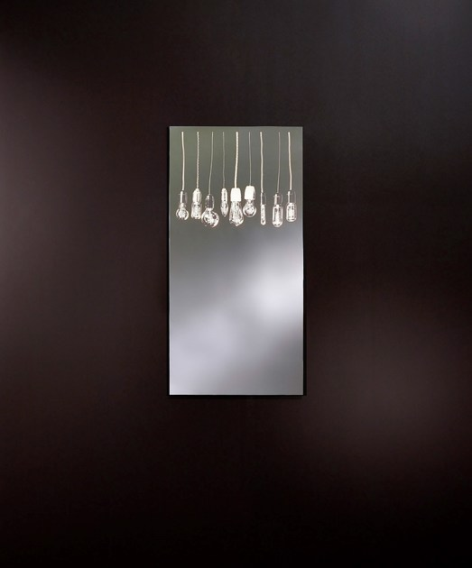 Classic style rectangular wall-mounted mirror with integrated lighting GLOW | Mirror with integrated lighting - DEKNUDT MIRRORS