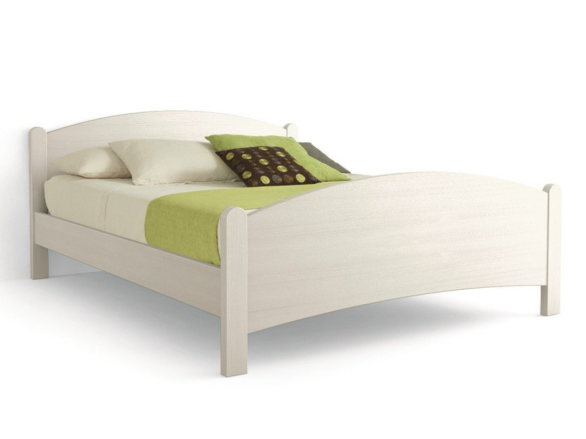 Wooden double bed LUNA | Double bed by Scandola Mobili