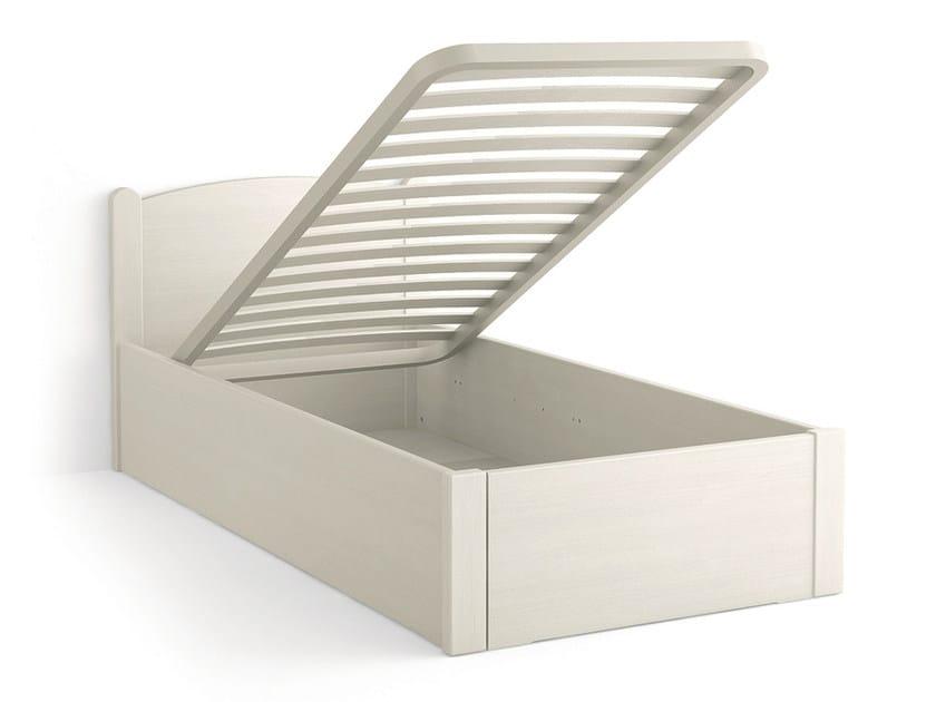 Wooden storage bed LUNA | Wooden bed - Scandola Mobili