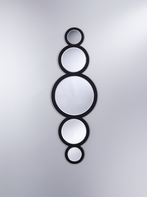 Contemporary style framed wall-mounted mirror CIRCLE | Contemporary style mirror - DEKNUDT MIRRORS