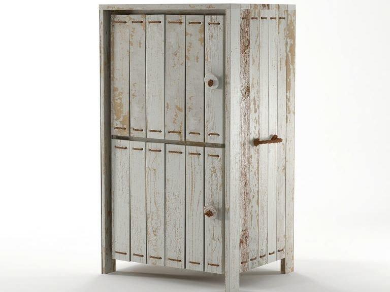 Wooden storage unit with doors ROPE ME | Storage unit - KARPENTER