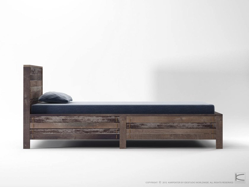 Wooden single bed ROPE ME | Single bed by KARPENTER