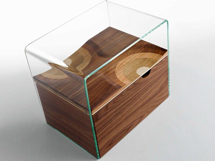Rectangular bedside table BIFRONTE | Bedside table - HORM.IT