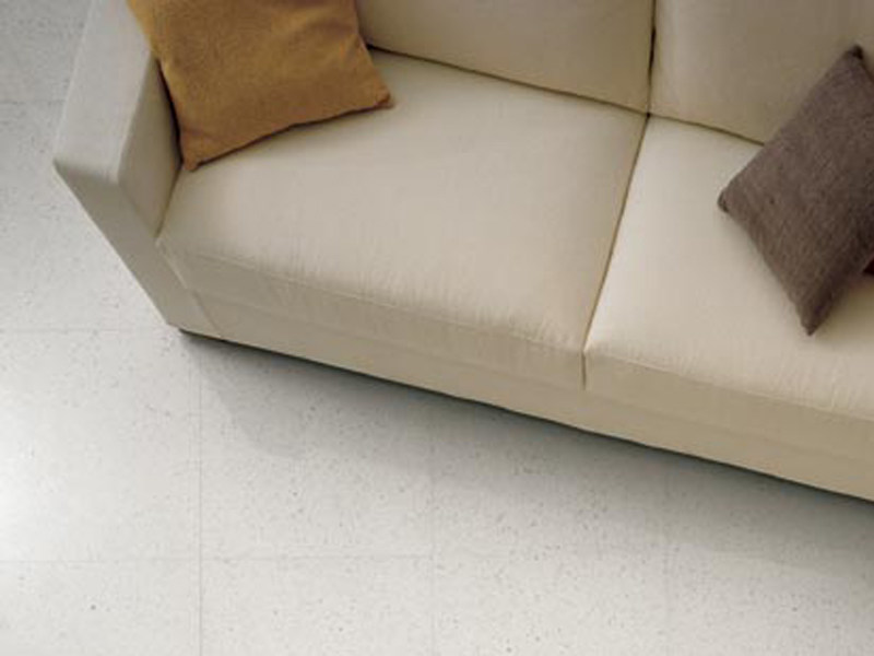 Indoor/outdoor porcelain stoneware flooring with granite effect ROCKWELL WHITE by GranitiFiandre
