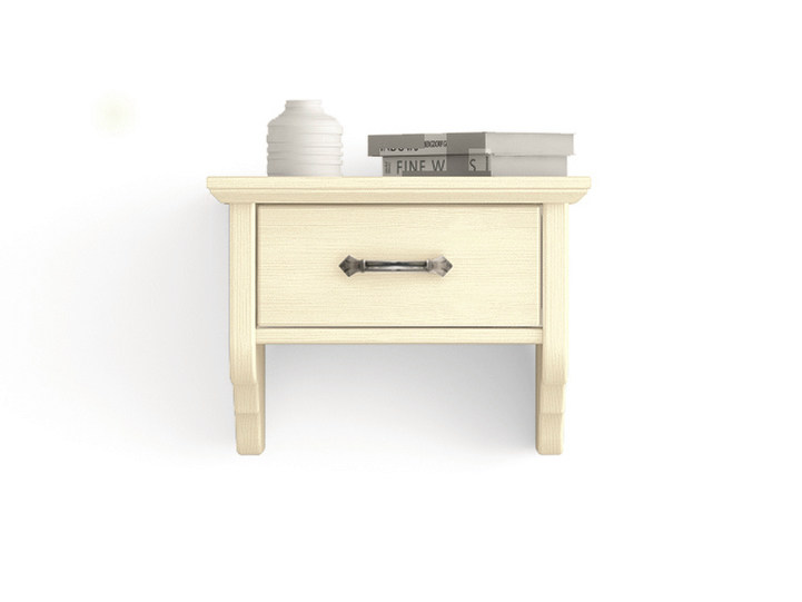 Rectangular wall-mounted wooden bedside table with drawers Wall-mounted bedside table - Scandola Mobili