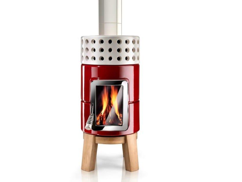 Stufa a legna in ceramica roundstack wood la castellamonte - Stufa a legna in ceramica ...