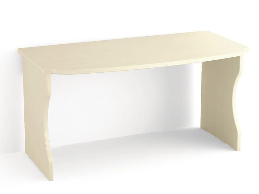 Rectangular wooden writing desk Writing desk by Scandola Mobili