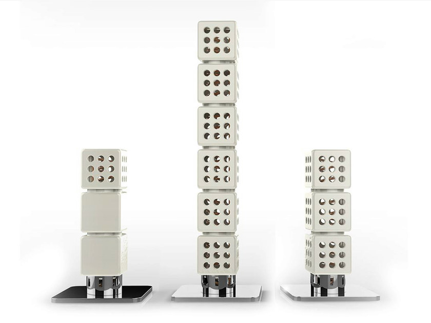 Modular ceramic decorative radiator THERMOSTACK TOWER - LA CASTELLAMONTE STUFE