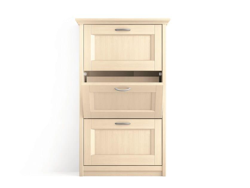 Wooden shoe cabinet Shoe cabinet - Scandola Mobili