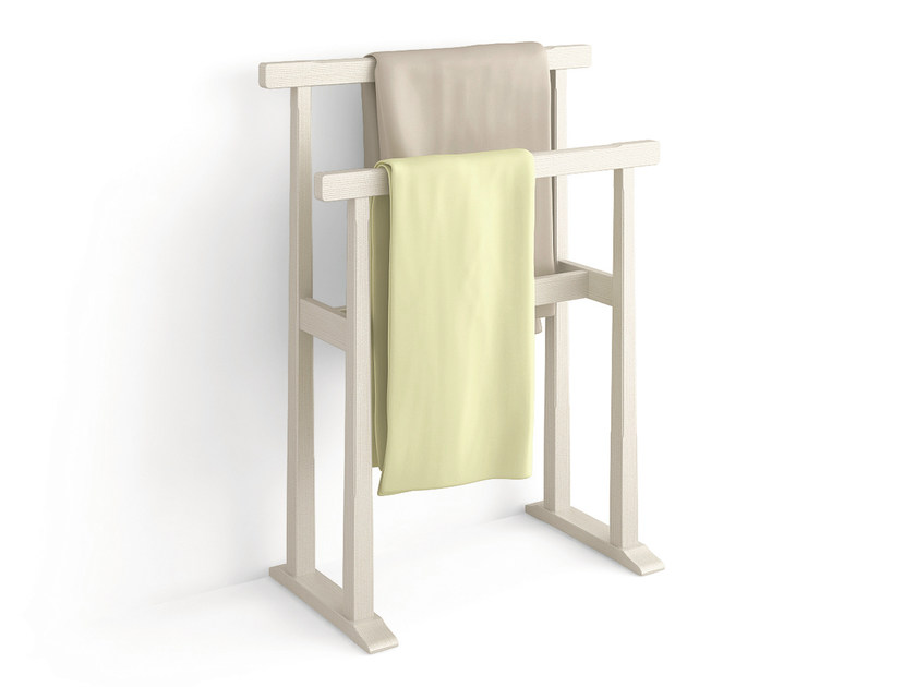 Standing wooden towel rack Towel rack - Scandola Mobili