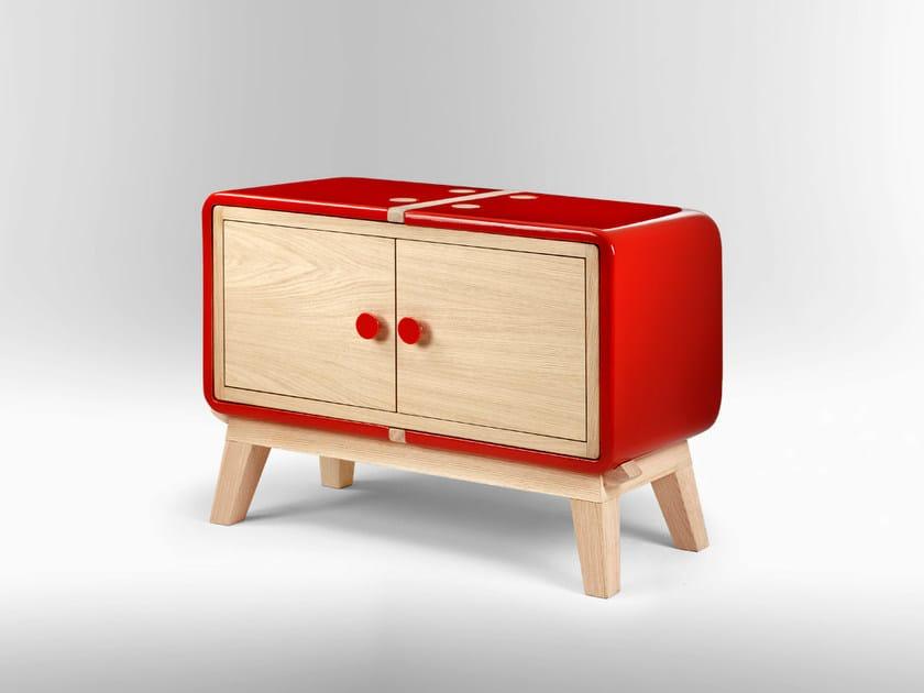 Wooden sideboard with doors KERAMOS | Sideboard with doors - LA CASTELLAMONTE STUFE