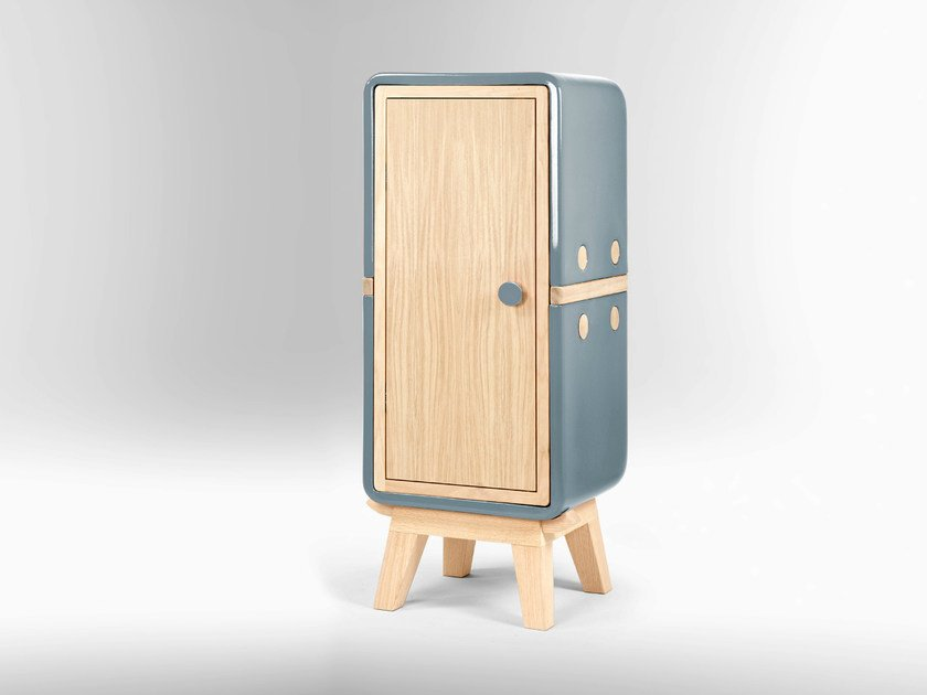 Wooden storage unit with doors KERAMOS | Storage unit with doors - LA CASTELLAMONTE STUFE