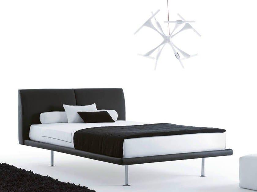 Imitation leather double bed CAPRERA | Imitation leather bed - Orizzonti Italia