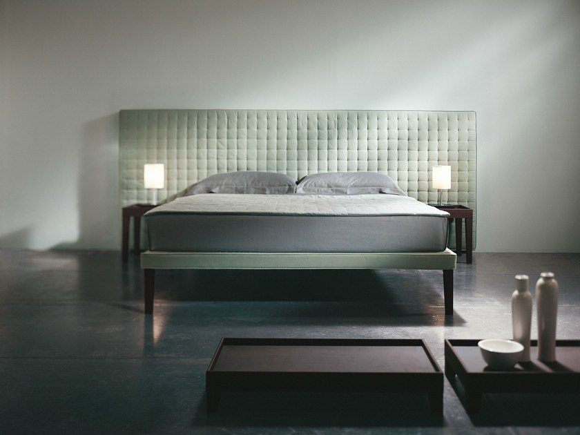 Double bed with tufted headboard EBRIDI | Bed with tufted headboard - Orizzonti Italia
