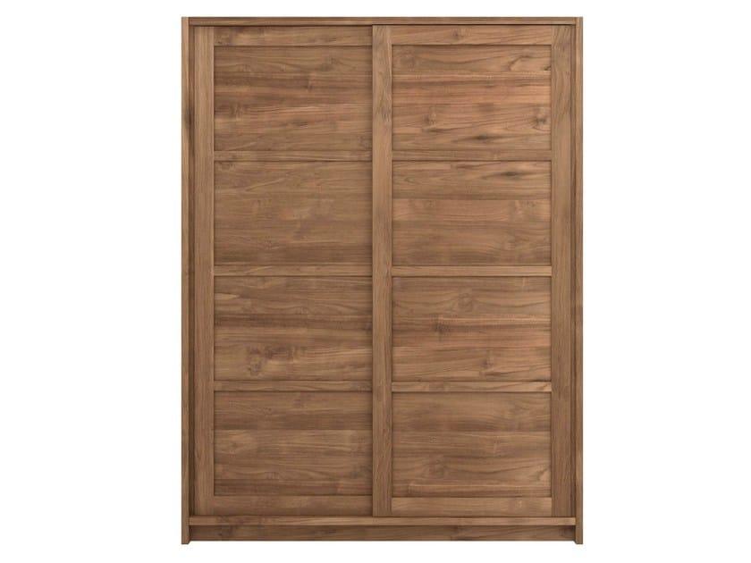 Teak wardrobe with sliding doors TEAK KNOCKDOWN | Wardrobe with sliding doors - Ethnicraft