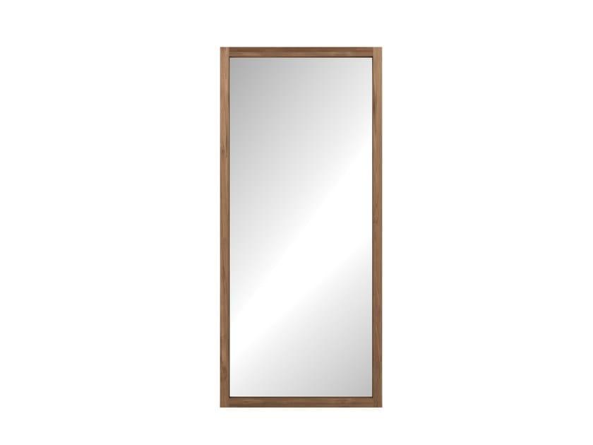 Freestanding rectangular framed mirror TEAK LIGHT FRAME   Mirror - Ethnicraft
