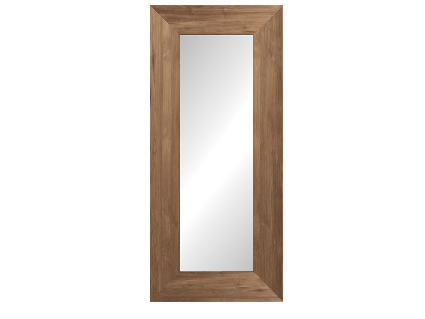 Freestanding rectangular framed mirror TEAK MIRROR - Ethnicraft