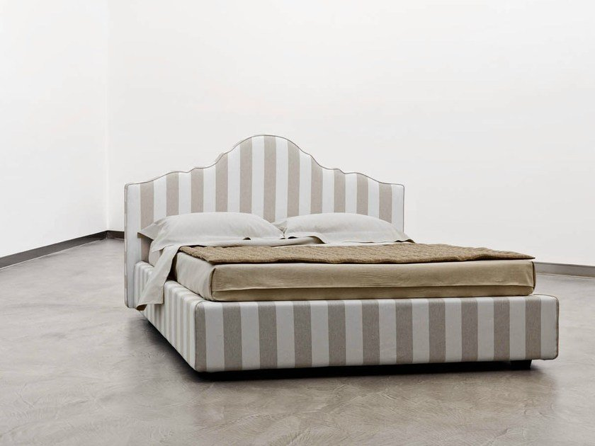 Upholstered double bed FLORES - Orizzonti Italia