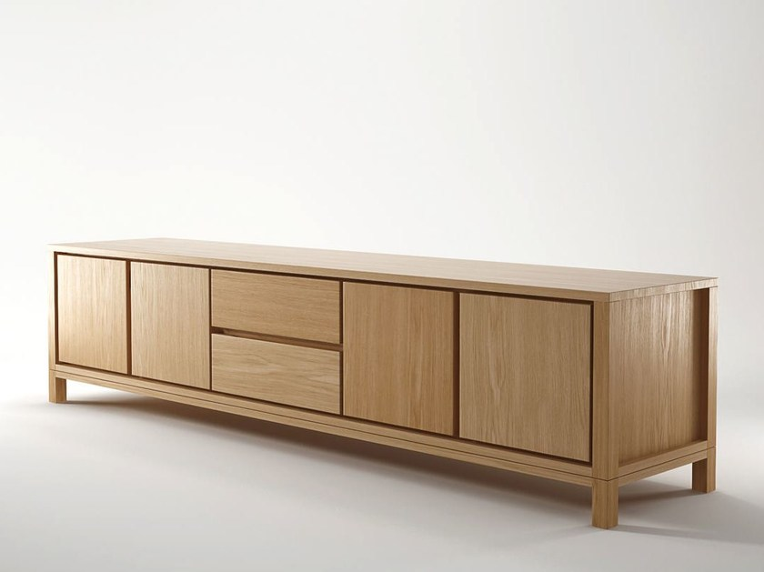 Wooden sideboard with drawers SOLID | Sideboard with drawers - KARPENTER