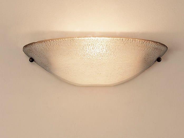 Murano glass wall light MEZZA LUNA - TERZANI
