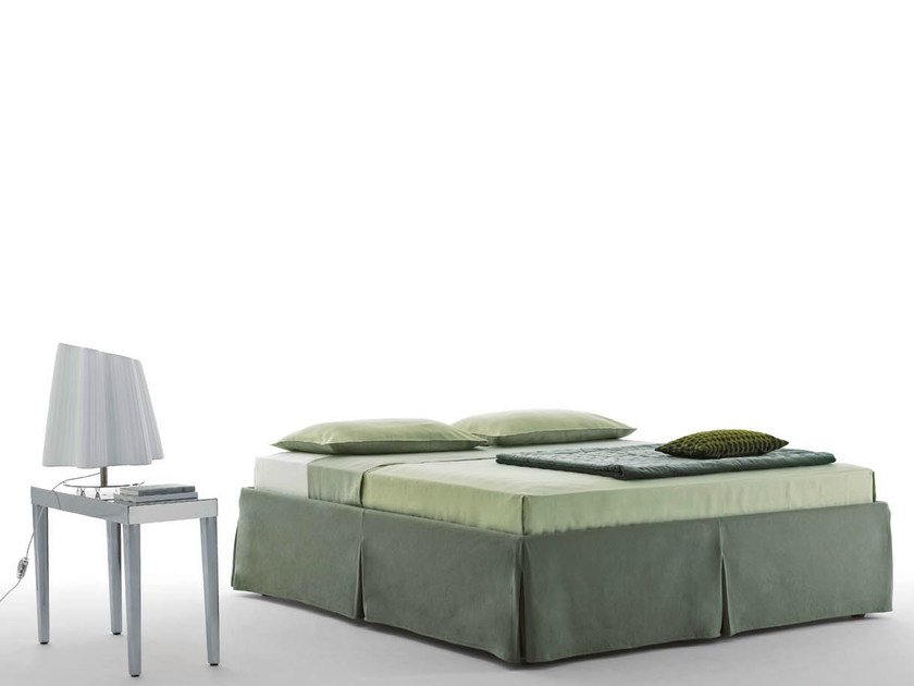 Double bed with removable cover SOMMIER MAJOR by horm