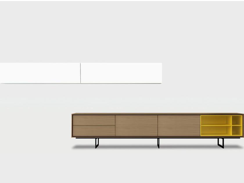 Contemporary style wooden storage wall AURA C7-3 by TREKU