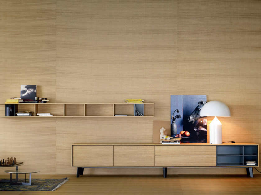 Solid wood storage wall AURA C5 - TREKU