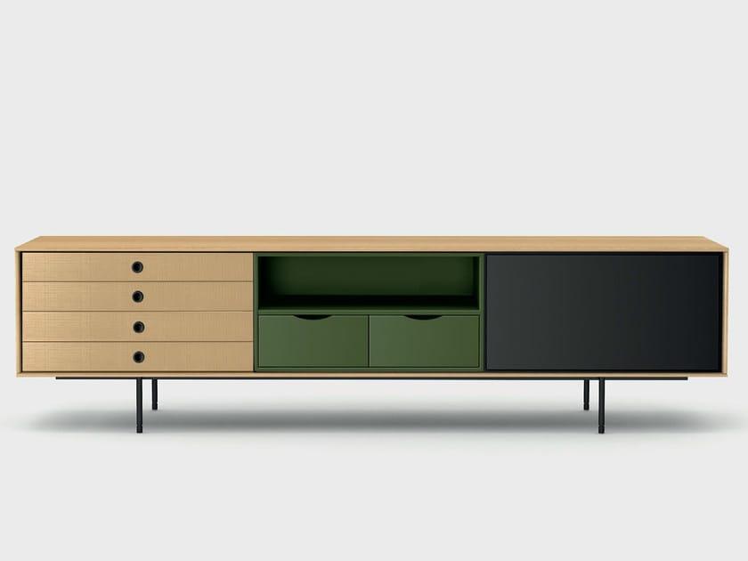 Contemporary style wooden sideboard AURA C8-2 - TREKU