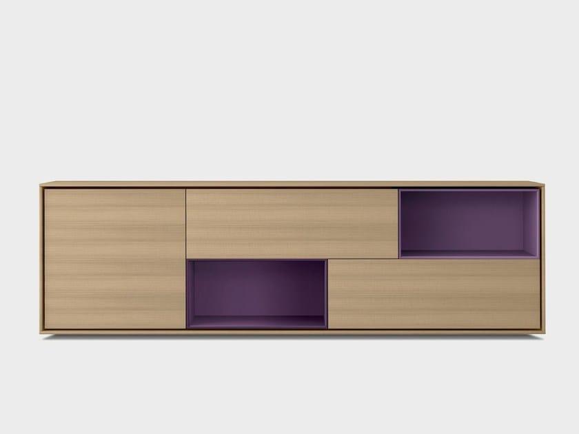 Solid wood sideboard AURA S2-2 by TREKU