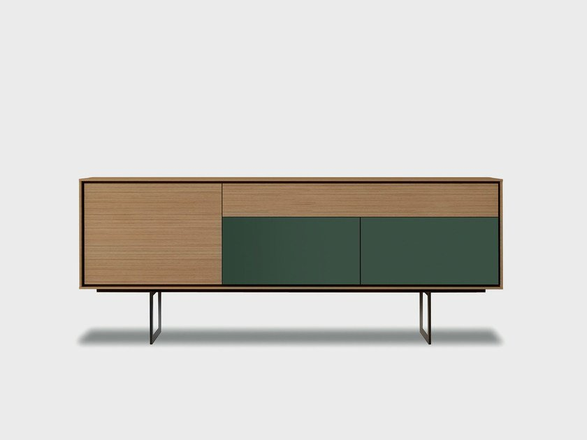 Solid wood sideboard AURA S1-3 by TREKU