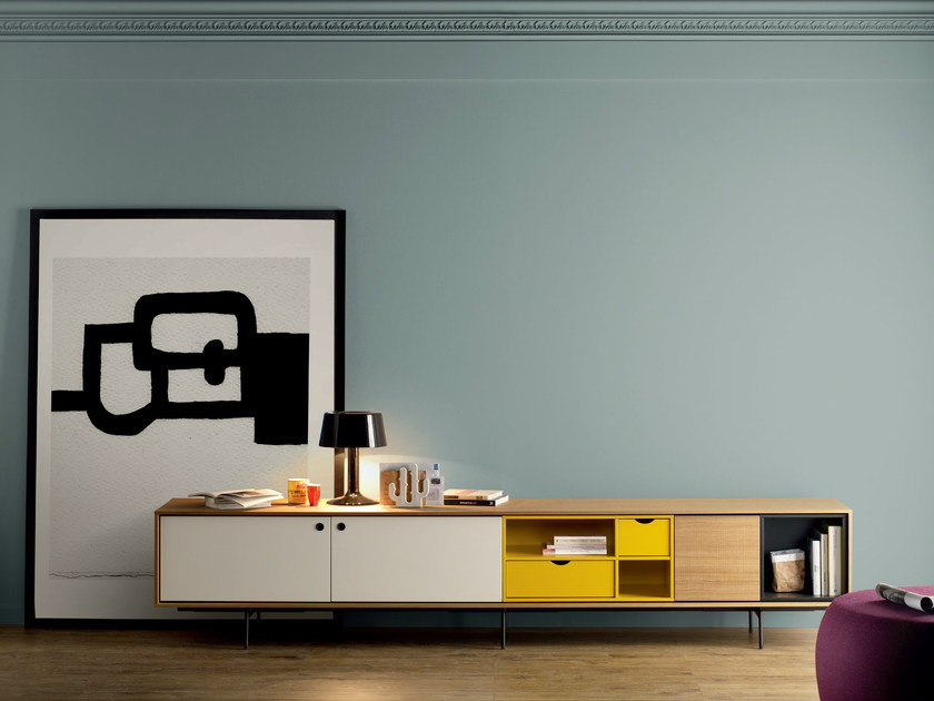 Contemporary style wooden sideboard AURA C9 - TREKU