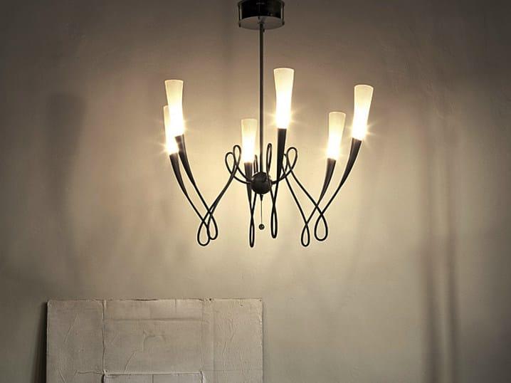 Halogen blown glass pendant lamp VIRGINS | Pendant lamp - TERZANI