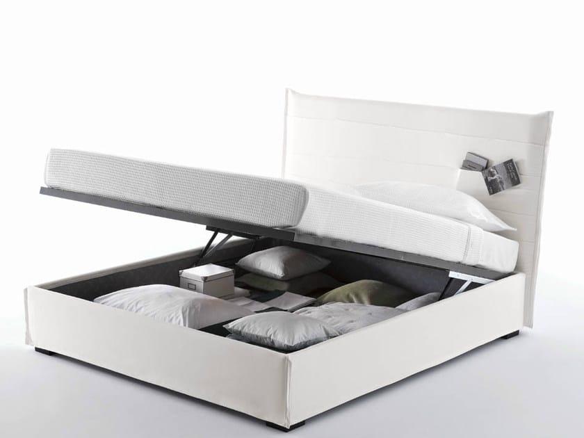 Storage bed with storage headboard TASCA | Storage bed - Orizzonti Italia