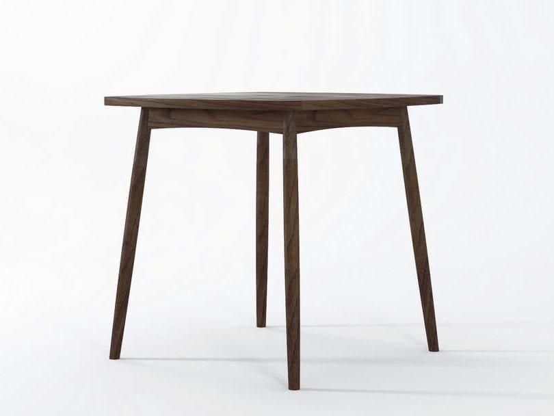 Tavolo da pranzo quadrato in legno collezione twist by for Tavolo pranzo quadrato