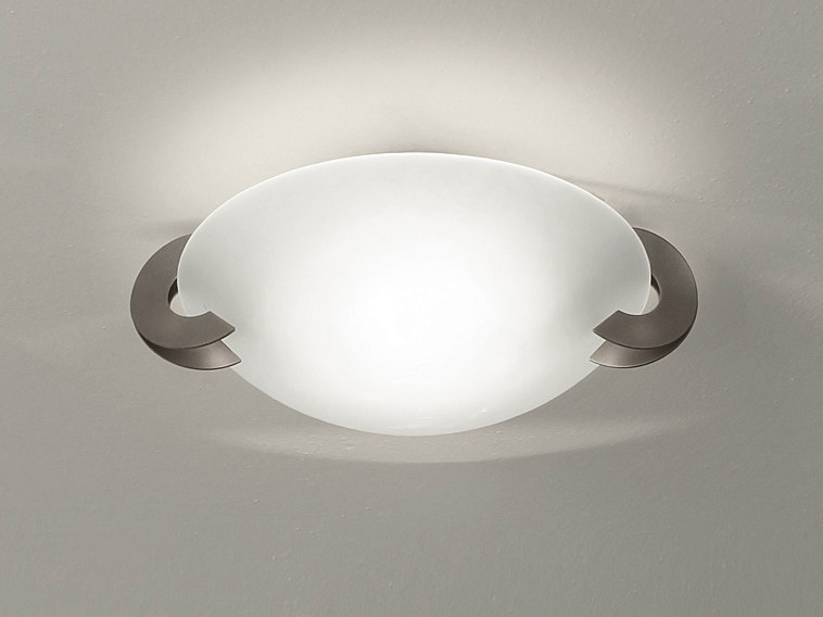 Halogen glass ceiling lamp SOLUNE | Glass ceiling lamp - TERZANI