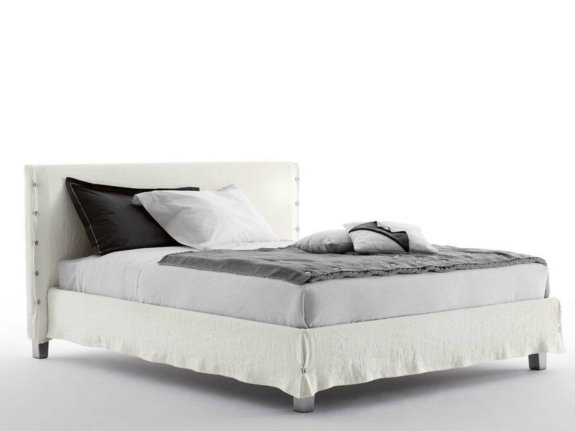 Double bed with removable cover WHITE - Orizzonti Italia