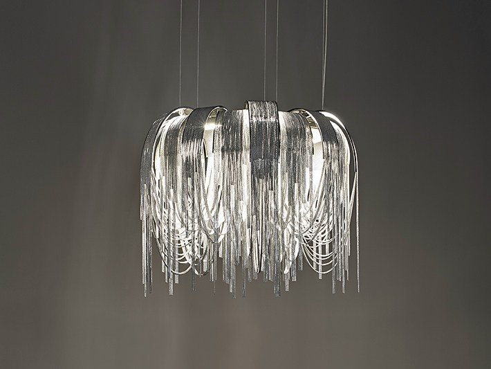 LED metal pendant lamp VOLVER | Pendant lamp by TERZANI