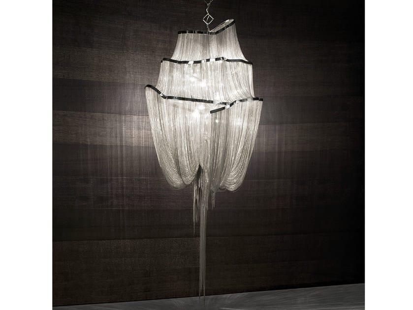 Halogen nickel pendant lamp ATLANTIS | Pendant lamp - TERZANI