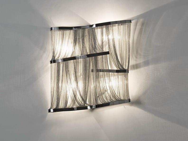 Halogen nickel wall light ATLANTIS | Halogen wall light by TERZANI