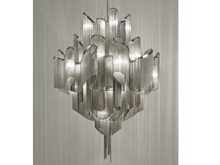 Halogen metal pendant lamp STREAM   Pendant lamp by TERZANI