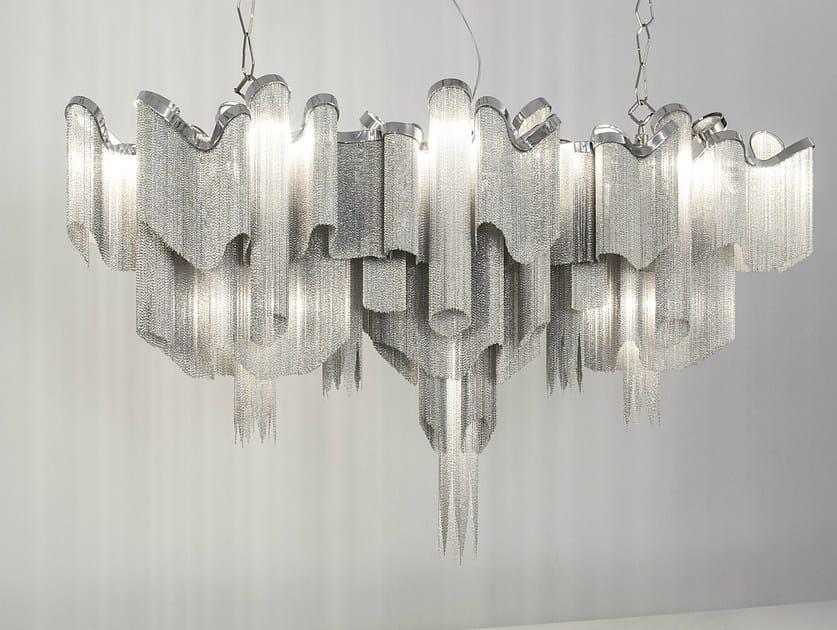 Halogen metal pendant lamp STREAM | Pendant lamp - TERZANI