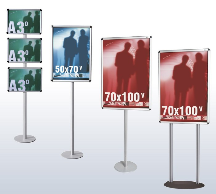 Floor-standing metal display unit Espositore porta avvisi Rondo Info - STUDIO T