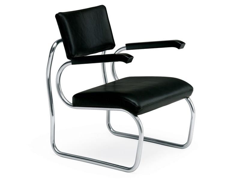 Upholstered leather armchair SANT'ELIA - Zanotta