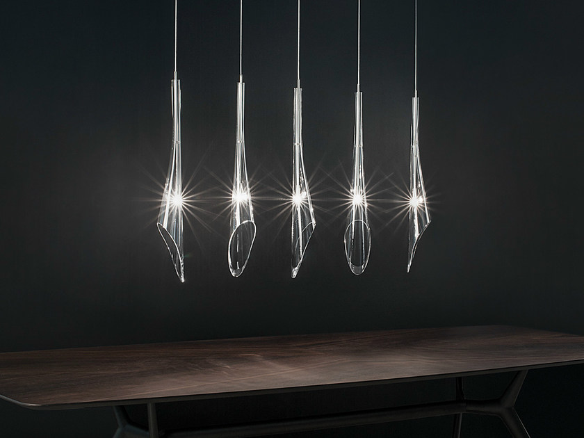 Halogen crystal pendant lamp CALLE | Crystal pendant lamp - TERZANI