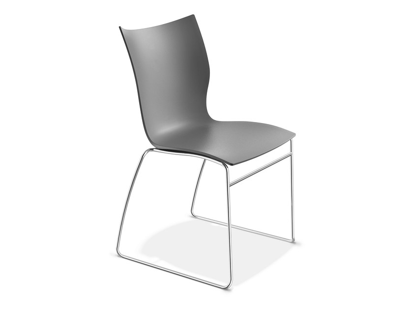 Sled base plastic chair ONYX I | Plastic chair by Casala