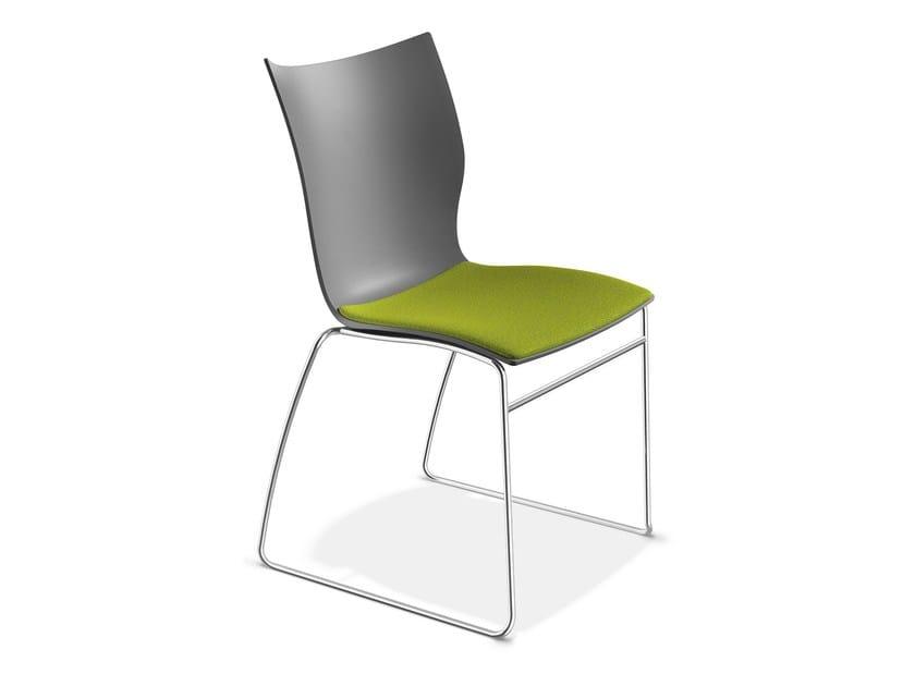 Sled base plastic chair ONYX I | Plastic chair - Casala